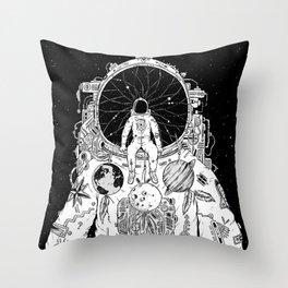 The Dreamer (B/W) Throw Pillow