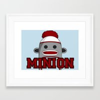 minions Framed Art Prints featuring Misha's Minions by Evie Bird