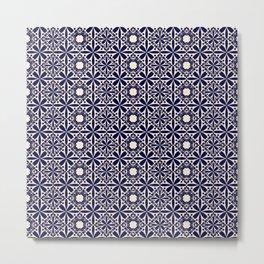 Pattern art curtain 2 Metal Print