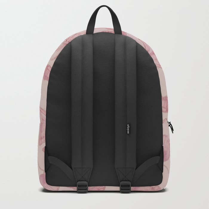Butterfly Pattern soft pink pastel Backpack
