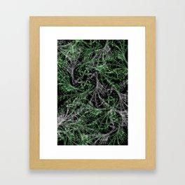 Green Magical Wisps Framed Art Print