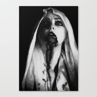 three of the possessed Canvas Prints featuring Possessed by Damon Kizer Art