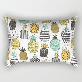 Pineapple Geometric on White Rectangular Pillow