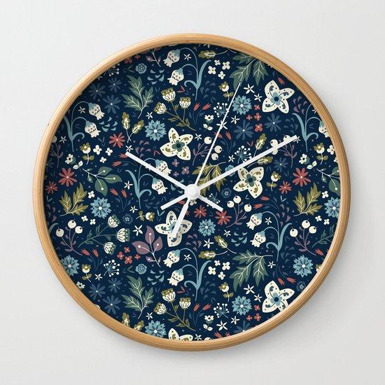 Wild Meadow Wall Clock