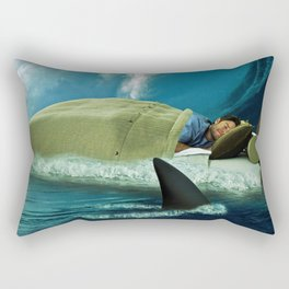 Sleeping with Sharks Rectangular Pillow
