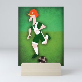 Soccer Unicorn Mini Art Print