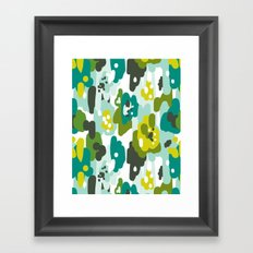 Painted Camo Framed Art Print
