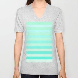 Green Teal Stripe Fade Unisex V-Neck