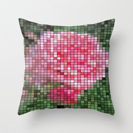 Pink Roses in Anzures 2 Mosaic Throw Pillow