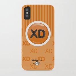 Orange Writer's Mood iPhone Case