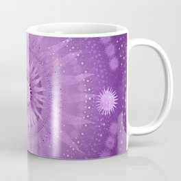 """Purple & Mallow Vault Mandala"" (Silver stars) Coffee Mug"