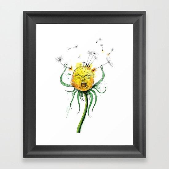 Angry Flower Whimsical Art Framed Art Print