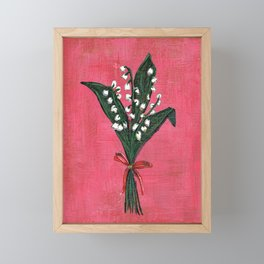 Lilies of the valley Framed Mini Art Print