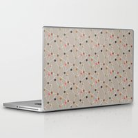 mid century modern Laptop & iPad Skins featuring Atomic Circle Mid-Century Pattern by Two if by Sea Studios
