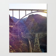 Hoover Dam Electicity Towers Canvas Print