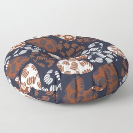 Patched Abstract Floral IV Floor Pillow