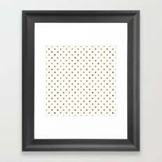 Chic Gold and White Dots Framed Art Print