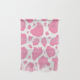 pink and white animal print cow spots Wall Hanging