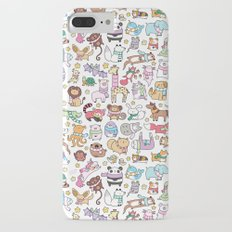 Winter Animals with Scarves Doodle iPhone 7 Plus Slim Case
