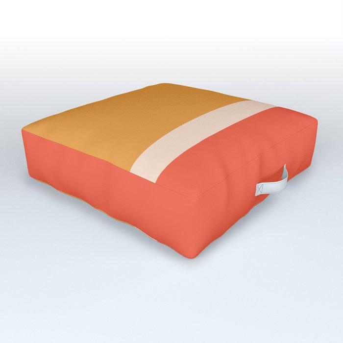 Golden Summer Color Block Outdoor Floor Cushion