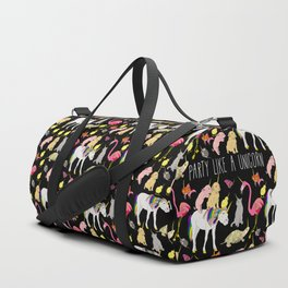 Funny Unicorn Party Duffle Bag