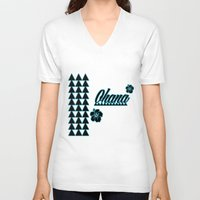 ohana V-neck T-shirts featuring My Ohana by Lonica Photography & Poly Designs