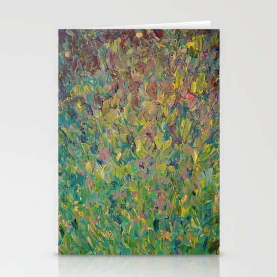 FIELDS OF BLUE - WOW Modern Abstract Shades of Blue and Green in Nature Theme Grass Waves Stationery Cards