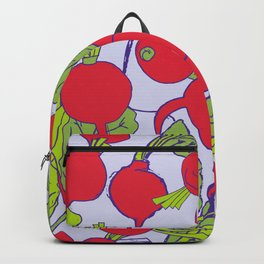 Radish Vegetable Pattern Backpack