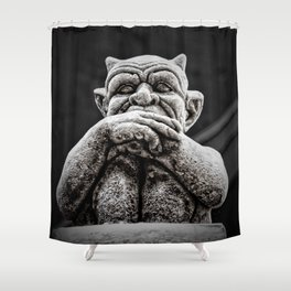 A Little Uneasy Shower Curtain