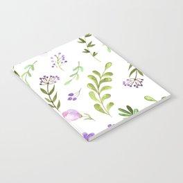 Purple Flower Field Notebook