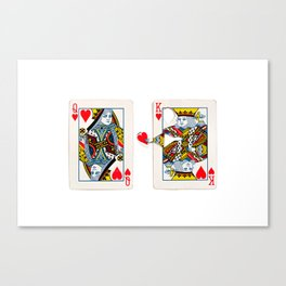 The King knows what the heart wants. Canvas Print