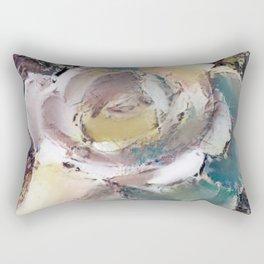 Multicolored Artistic Rose Rectangular Pillow