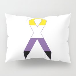 Gender Non-Binary Ribbon Pillow Sham