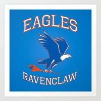 ravenclaw Art Prints featuring Eagles Ravenclaw by Fresco Umbiatore