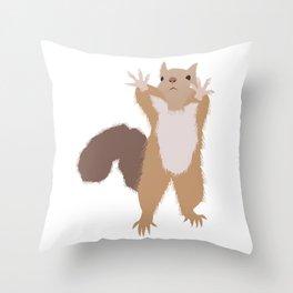 Baesic I Can't Reach Squirrel Throw Pillow