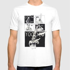 for those about to rock White MEDIUM Mens Fitted Tee