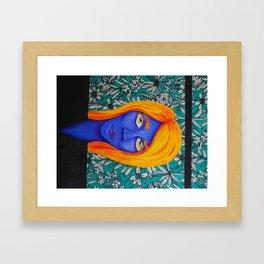 Alien Self-Portrait Framed Art Print
