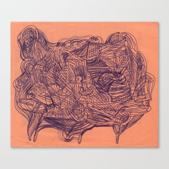 in summary, bovine configuration Canvas Print