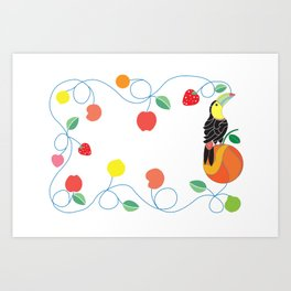 Kitchen toucan Art Print