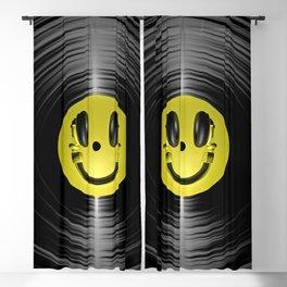 Vinyl headphone smiley Blackout Curtain