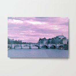 Parisian Mosaic - Piece 9 - The Pont Neuf Metal Print