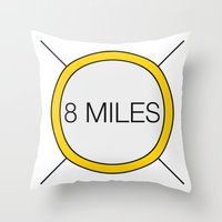 miles davis Throw Pillows featuring 8 miles by Thomas Official