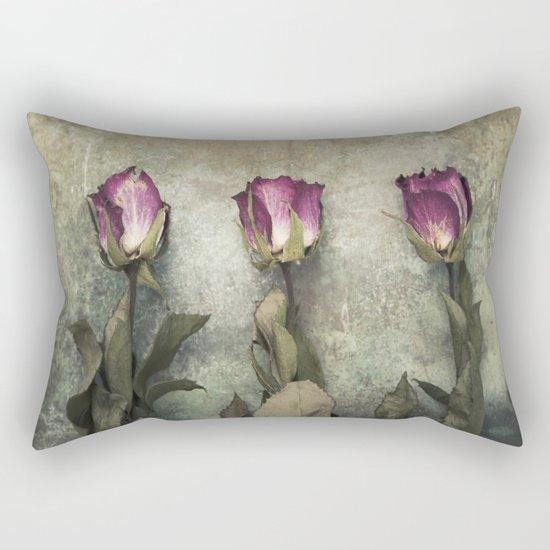 Three dried Roses Rectangular Pillow