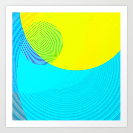 Re-Created Spiral Painting I by Robert S. Lee Art Print