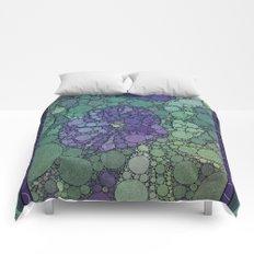 Percolated Purple Potato Flower Comforters