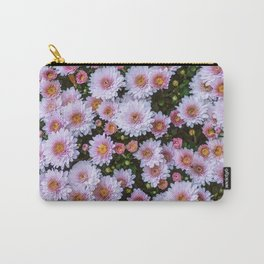 Passing By White Sunflowers Carry-All Pouch