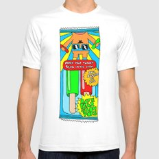 Popsicles Mens Fitted Tee MEDIUM White