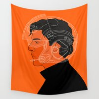 poe Wall Tapestries featuring 3/4 by rdjpwns