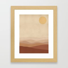 Burnt Orange Landscape Framed Art Print