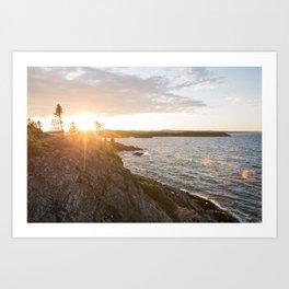 Pukaskwa National Park - Ontario, Canada   lake superior - landscape - photography - sunrise - photo Art Print